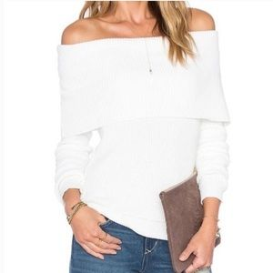 Lovers + Friends off-the-shoulder cowl sweater XS